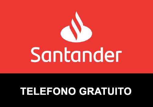 Teléfono gratuito de Banco Santander